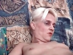 Mature blonde is being filled with cock