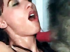 Astonishing oral creampie by pooch