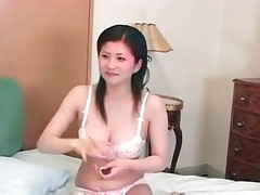 Sexy Asian beauty and fish in her pussy